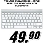 Teclado inalámbrico - Apple Wireless Keyboard, con Bluetooth