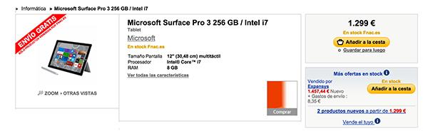 Oferta Surface Pro 3