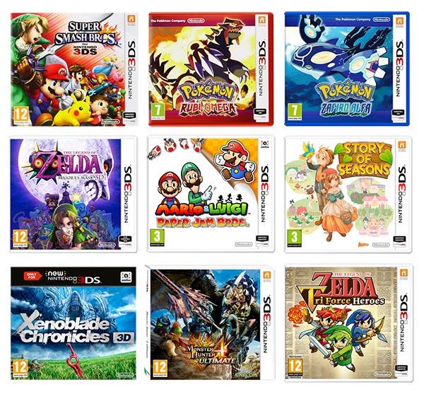 Videojuegos de la promoción 3x2 Nintendo 3DS