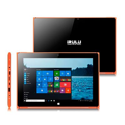 Distintas vistas de la tablet Irulu de 10 pulgadas con Windows 10