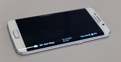 Samsung Galaxy S6 Edge barra lateral