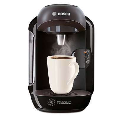 Cafetera Bosch TASSIMO Vivy preparando café.