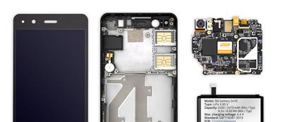Interior del SmatPhone bq Aquaris A4.5