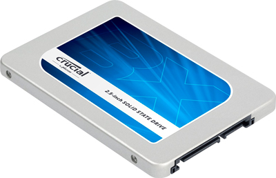 Vista ladeada del Disco Duro SSD Crucial BX200 de 960GB
