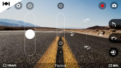 Aplicación para controlar el Minidrone Parrot dumping sumo