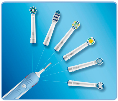 Distintos cabezales compatibles con el cepillo Oral-B PRO CrossAction 2000