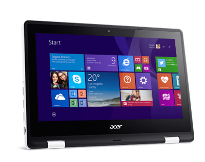 Portátil táctil Acer Aspire R11 R3-131T plegado