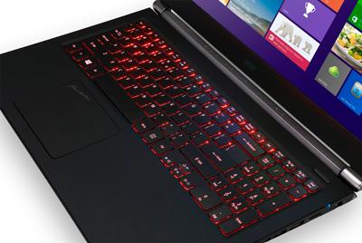 Detalle del teclado del portátil detalle teclado