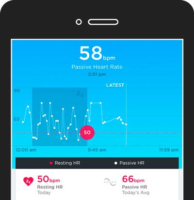 Aplicación de la pulsera de actividad y sueño Jawbone UP3