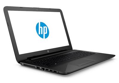 Vista ladeada del portátil HP 15-ac142ns