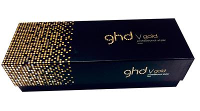 Caja de las planchas para el cabello ghd V Gold Max Styler