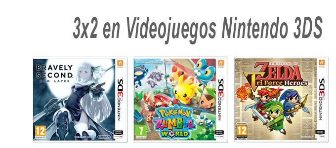 3x2 en Videojuegos Nintendo 3DS