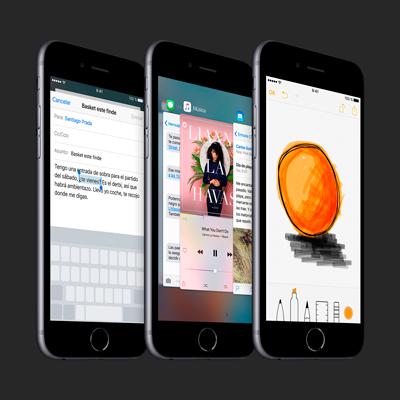 Varias aplicaciones corriendo en un Apple Iphone 6s de 16GB color gris