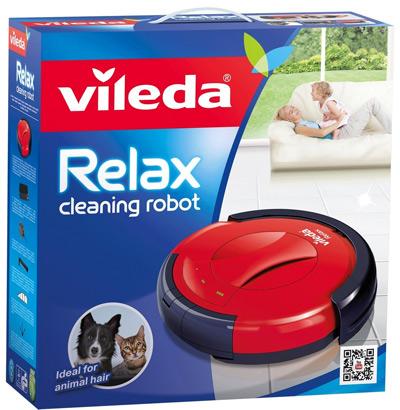 Robot Aspirador Vileda Relax Cleaning en su caja