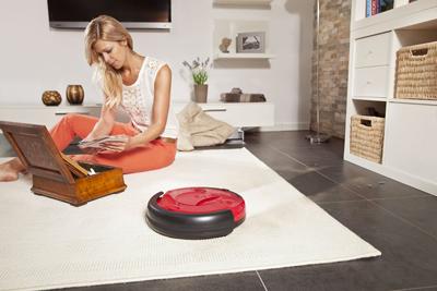 Robot Aspirador Vileda Relax Cleaning en funcionamiento