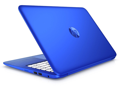 Vista trasera lateral del portátil HP Stream 13