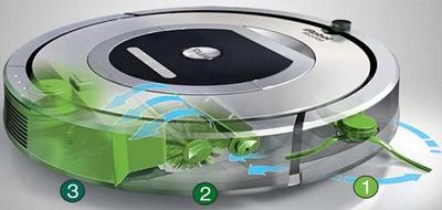 Proceso de limpieza del Robot aspirador iRobot Roomba 782