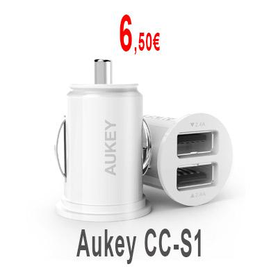 Cargador de coche Aukey CC-S1