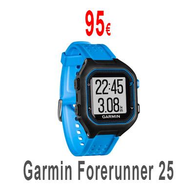 Garmin Forerunner 25 con monitor de ritmo cardiaco.