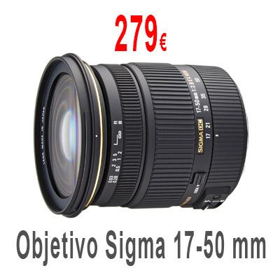 Objetivo Sigma 17-50mm