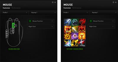 Configuración de los botones del ratón Razer MMO Chroma