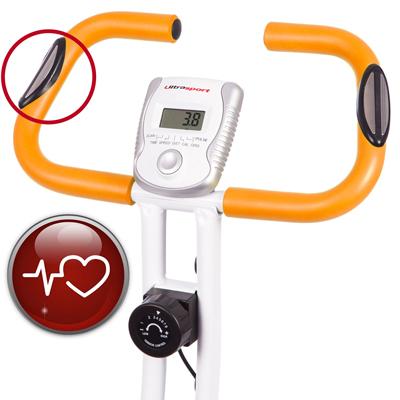 Sensores y consola de la bicicleta estática Ultrasport F-Bike 200B