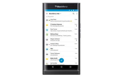 Aplicación Hub en BlackBerry Priv