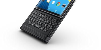Detalle del teclado de la BlackBerry Priv