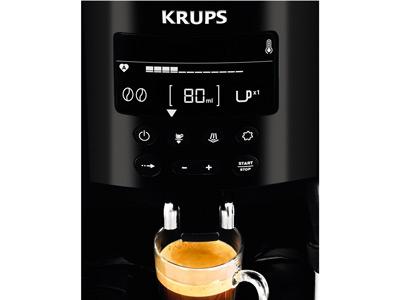Detalle LCD y botones de la cafetera Krups EA8150