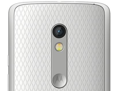 Detalle de la cámara trasera del Motorola Moto X Play