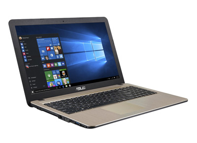 Vista general del portátil Asus F540LA con 8GB de RAM