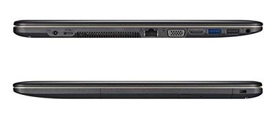 Vistas laterales del portátil Asus F540LA con 8GB de RAM
