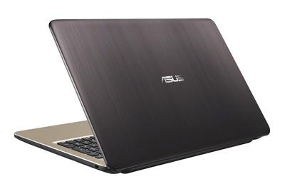 Vista posterior del portátil Asus F540LA con 8GB de RAM