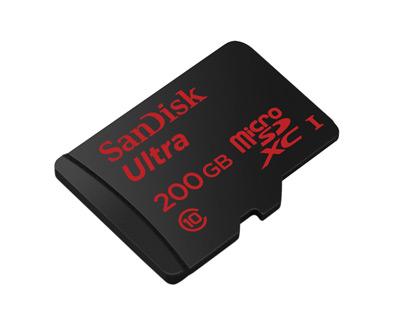 Vista general de la tarjeta SanDisk Ultra de 200GB