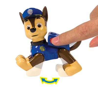 Figura con movimiento de Chase del centro de rescate de la Patrulla Canina