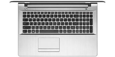 Vista superior del portátil Lenovo Z51-70 con iIntel i5