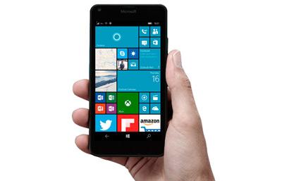 Vista general del móvil Microsoft Lumia 550