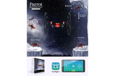 Características del MiniDrone Parrot Rolling Spider