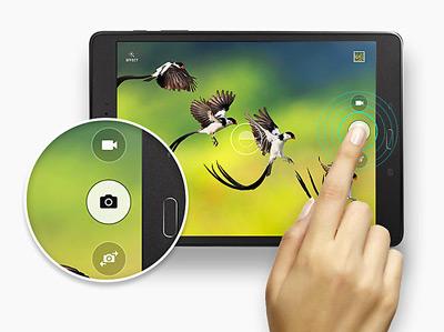 Función disparo continuo de la tablet Samsung Galaxy Tab A