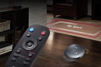 Controlar el robot aspirador LG Hombot Square Turbo 7 con el mando a distancia