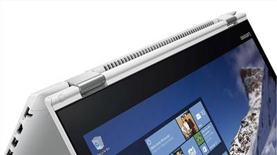Detalle de las bisagras del convertible Lenovo Yoga 510