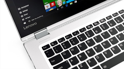 Detalle del teclado del convertible Lenovo Yoga 510