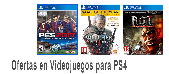 Ofertas en videojuegos para PS4