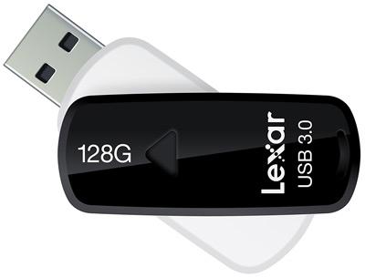 Sistema retráctil del pendrive Lexar JumpDrive S37 de 128GB