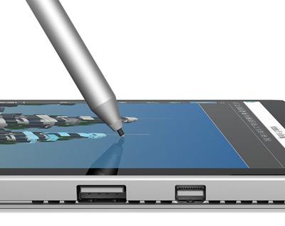 Detalle de uso del lápiz de la Surface Pro 4