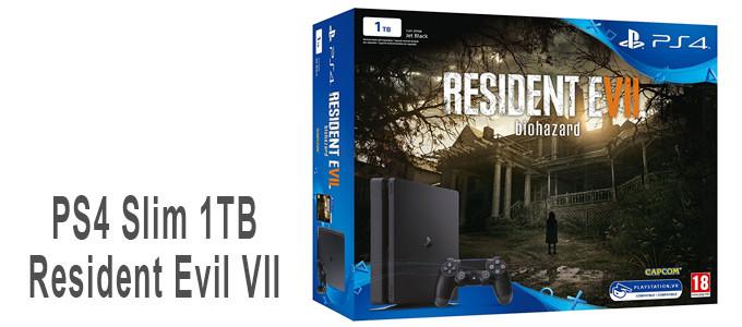 PS4 Slim de 1TB con Resident Evil VII