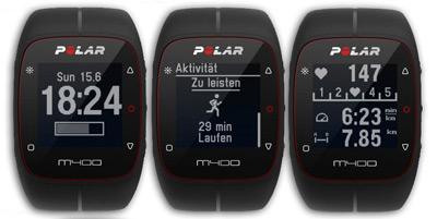 Distintas funciones del reloj de entrenamiento Polar M400