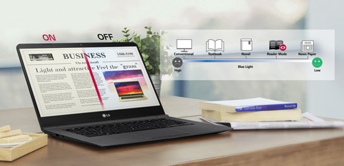 Modo Reader del portátil UltraSlim LG 14Z960