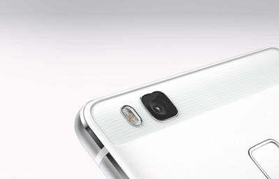 Detalle de la cámara trasera del Smartphone Huawei P9 lite