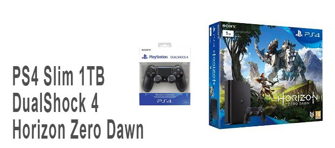 Pack PS4 Slim 1TB, DualShock 4 y Horizon Zero Dawn